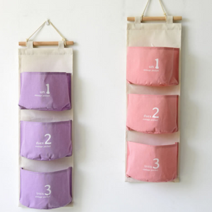 Hanging wall pocket baskets