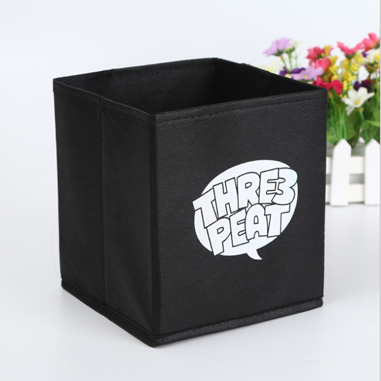 Foldable collapsible fabric kallax storage organizer box