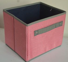 Coloured cream kids childrens fabric storage boxes