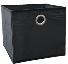 Large black collapsible foldable fabric childrens storage boxes