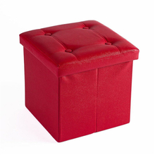 Collapsible Storage Ottoman Eather Cube