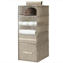Linen Foldable Hanging Home Organizer with Drawers