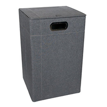Folding Tall Narrow Best Gray Clothes Hamper