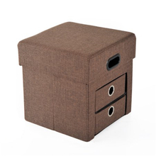 Oxford Foldable Ottoman Storage Box Seat