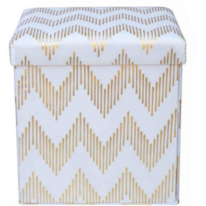 Foldable Storage Linen Stool Seat Box with Lid