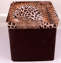 13 Inch Storage Bin Ottoman Box with Lid