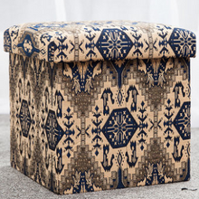 Folding Storage Ottoman with Removable Lid